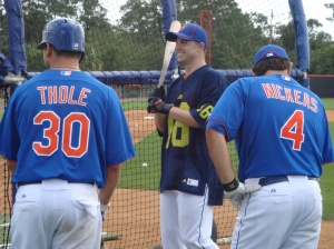 Wright joking around