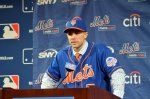 David Wright at his news conference on Wednesday  Ben Platt/MLB.com