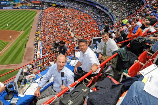 6 - SNY Mets Announcers Shea upper deck